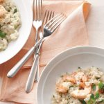Creamy risotto with shrimps