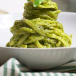 Linguine with genovese-style pesto